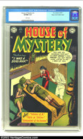 "Golden Age (1938-1955):Horror, House of Mystery #2 Mile High pedigree (DC, 1952) CGC VF/NM 9.0White pages. Gerber estimates this issue to have a ""less tha..."