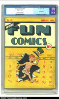 Golden Age (1938-1955):Superhero, More Fun Comics #28 (DC, 1938) CGC VG/FN 5.0 Cream to off-white pages. This highly desirable and scarce pre-superhero issue ...