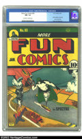 Golden Age (1938-1955):Superhero, More Fun Comics #63 (DC, 1941) CGC NM- 9.2 Off-white pages. How can you top this? One of the hottest titles in all of comics...