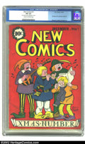 Golden Age (1938-1955):Non-Fiction, New Comics #11 (DC, 1936) CGC FN 6.0 Cream to off-white pages.Whitney Ellsworth provides a Christmas cover for this last is...