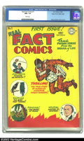 Golden Age (1938-1955):Non-Fiction, Real Fact Comics #1 Mile High pedigree (DC, 1946) CGC NM+ 9.6 White pages. Fred Ray, Joe Simon, and Jack Kirby provide the c...