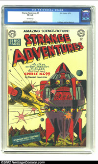 Strange Adventures #3 (DC, 1950) CGC FN 6.0 Off-white pages. DC greats Virgil Finlay, Curt Swan, and Dan Barry contribut...