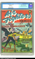 Golden Age (1938-1955):War, Air Fighters Comics #1 Mile High pedigree (Hillman Fall, 1941) CGC NM- 9.2 Off-white to white pages. Here is the premiere is...