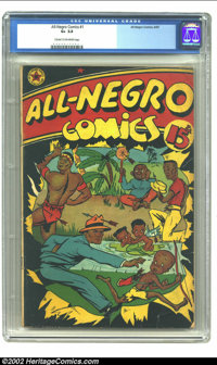 All-Negro Comics #1 (All-Negro Comics, 1947) CGC GD+ 2.5 Cream to off-white pages. In coins, stamp and pretty much every...