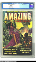 Golden Age (1938-1955):Science Fiction, Amazing Adventures #1 (Ziff-Davis, 1950) CGC FN 6.0 Off-white towhite pages. The colorful painted cover has a very pulp-esq...