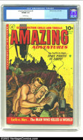 Golden Age (1938-1955):Science Fiction, Amazing Adventures #6 (Ziff-Davis, 1952) CGC VF/NM 9.0 Off-white pages. Pulp-like painted covers distinguished this title fr...