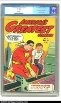 Golden Age (1938-1955):Superhero, America's Greatest Comics #7 (Fawcett, 1943) CGC FN 6.0 White pages. Visit the world of tomorrow with Captain Marvel in this...