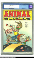 Golden Age (1938-1955):Funny Animal, Animal Comics #9 (Dell, 1944) CGC NM 9.4 Cream to off-white pages.No one could bring animals to life like Walt Kelly. Well,...