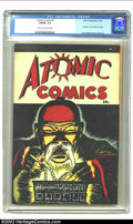 Golden Age (1938-1955):Crime, Atomic Comics #1 (Green Publishing Co., 1946) CGC FN/VF Cream to off-white pages. Siegel and Shuster show up in the darnedes...