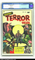 Golden Age (1938-1955):Horror, Beware Terror Tales #1 (Fawcett, 1952) CGC VF+ 8.5 Off-white pages.Bernard Baily easily made the transition from the classi...