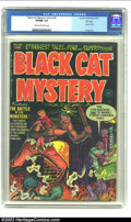 Golden Age (1938-1955):Horror, Black Cat Mystery #36 File Copy (Harvey, 1952) CGC VF/NM 9.0 Creamto off-white pages. Warren Kremer creates a fun cover for...