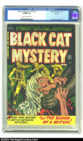 Golden Age (1938-1955):Horror, Black Cat Mystery #38 File Copy (Harvey, 1952) CGC VF/NM 9.0 Creamto off-white pages. We're offering higher grades in other...