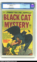 Golden Age (1938-1955):Horror, Black Cat Mystery #41 File Copy (Harvey, 1952) CGC VF/NM 9.0 Creamto off-white pages. Are you a collector of giant bat cove...