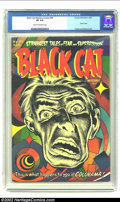 """Golden Age (1938-1955):Horror, Black Cat Mystery #45 (Harvey, 1953) CGC VF 8.0 Cream to off-whitepages. Bob Powell's classic """"Colorama"""" cover sets this is..."""