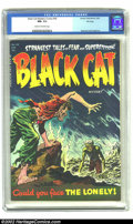 Golden Age (1938-1955):Horror, Black Cat Mystery #48 File Copy (Harvey, 1954) CGC NM- 9.2 Cream tooff-white pages. Harvey's file copies, like those of EC,...