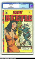Golden Age (1938-1955):Superhero, Blue Beetle #48 (Fox Features Syndicate, 1947) CGC FN/VF 7.0 Off-white pages. Matt Baker and Jack kamen do it again with thi...
