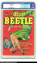 """Golden Age (1938-1955):Superhero, Blue Beetle #56 (Fox Features Syndicate, 1948) CGC FN+ 6.5 Off-white pages. """"Good girl"""" art rules the cover for this issue o..."""
