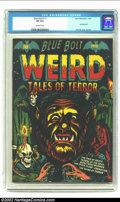 Golden Age (1938-1955):Horror, Blue Bolt Weird Tales #111 (Star Publications, 1951) CGC VF 8.0Off-white pages. L. B. Cole certainly outdoes himself on thi...