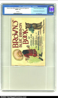 Brown's Blue Ribbon Book of Jokes and Jingles #nn (Brown's Shoe Company, 1904) CGC FN/VF 7.0 White pages. Here's an ecle...
