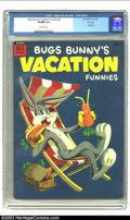 Golden Age (1938-1955):Funny Animal, Bugs Bunny's Vacation Funnies #4 File copy (Dell, 1954) CGC VF/NM 9.0 Off-white pages. Dell Giant comics are really tough in...