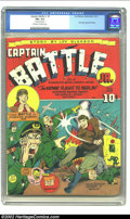 Golden Age (1938-1955):Superhero, Captain Battle Jr. #1 (Lev Gleason, 1943) CGC FN+ 6.5 Off-white to white pages. The title's run lasted only two issues, but ...