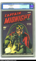 Golden Age (1938-1955):Superhero, Captain Midnight #11 (Fawcett, 1943) CGC VF 8.0 Cream to off-white pages. Mac Raboy shows off his skill at realism, three-di...