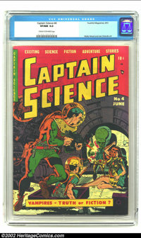 Captain Science #4 (Youthful Magazines, 1951) CGC VF/NM 9.0 Cream to off-white pages. The unmistakable flair of Wally Wo...