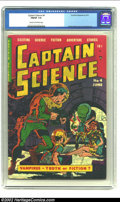 Golden Age (1938-1955):Science Fiction, Captain Science #4 (Youthful Magazines, 1951) CGC FN/VF 7.0 Cream to off-white pages. Here is an early Wally Wood and Joe Or...