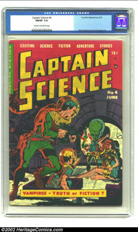 Captain Science #4 (Youthful Magazines, 1951) CGC FN/VF 7.0 Cream to off-white pages. Here is an early Wally Wood and Jo...