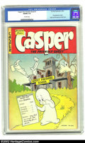 Golden Age (1938-1955):Cartoon Character, Casper the Friendly Ghost #1 (St. John, 1949) CGC VG/FN 5.0Off-white pages. The Friendly Ghost had appeared in Paramount ca...