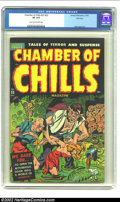 Golden Age (1938-1955):Horror, Chamber of Chills 23 (#3) File Copy pedigree (Harvey, 1951) CGC VF8.0 Cream to off-white pages. This cool cover features a ...