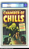 Golden Age (1938-1955):Horror, Chamber of Chills #6 File Copy (Harvey, 1952) CGC FN/VF 7.0 Creamto off-white pages. If you began reading comic books after...