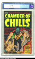 Golden Age (1938-1955):Horror, Chamber of Chills #11 File Copy (Harvey, 1952) CGC VF- 7.5 Cream tooff-white pages. At this writing CGC has certified only ...