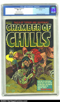 Golden Age (1938-1955):Horror, Chamber of Chills #13 File Copy (Harvey, 1952) CGC NM- 9.2 Cream tooff-white pages. We love the idea of preserving such a s...