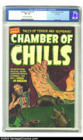 Golden Age (1938-1955):Horror, Chamber of Chills #16 File Copy (Harvey, 1953) CGC VF+ 8.5 Cream tooff-white pages. CGC has graded just four copies of this...