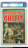 "Golden Age (1938-1955):Horror, Chamber of Chills #22 File Copy (Harvey, 1954) CGC VF/NM 9.0 Creamto off-white pages. ""Bondage, torture, ghoulish fiend..wa..."