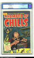 Golden Age (1938-1955):Horror, Chamber of Chills #24 File Copy (Harvey, 1954) CGC VF 8.0 Cream tooff-white pages. Babe in bondage, a mad scientist, miniat...