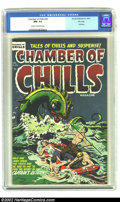 Golden Age (1938-1955):Horror, Chamber of Chills #26 File Copy (Harvey, 1954) CGC NM- 9.2 Cream tooff-white pages. Controversy! Overstreet says the cover ...