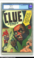 Golden Age (1938-1955):Superhero, Clue Comics #7 (Hillman Fall, 1943) NM+ 9.6 Off-white pages. For a comic book this old, such a rare grade is usually reserve...