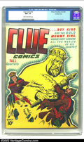 Golden Age (1938-1955):Miscellaneous, Clue Comics #8 Crowley pedigree (Hillman Fall, 1944) CGC NM- 9.2 Cream to off-white pages. Ruddy Palais renders an odd cover...