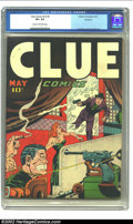 Golden Age (1938-1955):Crime, Clue Comics v2 #3 Rockford pedigree (Hillman Fall, 1947) CGC VF+ 8.5 Cream to off-white pages. This bondage/torture cover is...