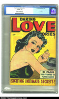 Golden Age (1938-1955):Romance, Daring Love Stories nn (Fox Features Syndicate, 1950) CGC VF/NM 9.0Cream to off-white pages. Oh the wondrous promises that ...