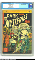 Golden Age (1938-1955):Horror, Dark Mysteries #18 (Master Publications, 1954) CGC VF/NM 9.0 Creamto off-white pages. This title is well known for its skel...