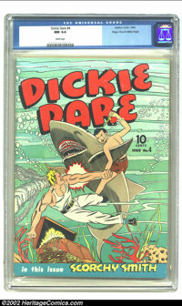 Dickie Dare #4 Mile High pedigree (Eastern Color, 1942) CGC NM 9.4 White pages. Even if Dickie Dare isn't one of your fa...