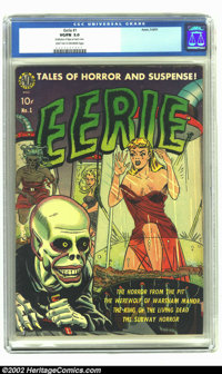 Eerie #1 (Avon, 1951) CGC VG/FN 5.0 Light tan to off-white pages. Another issue #1, published in 1947, with this title f...