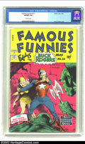Golden Age (1938-1955):Science Fiction, Famous Funnies #211 (Eastern Color, 1954) CGC VF/NM 9.0 Off-whitepages. One look at this classic cover and you'll instantly...