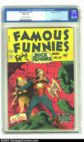 Golden Age (1938-1955):Science Fiction, Famous Funnies #211 (Eastern Color, 1954) CGC FN+ 6.5 Cream tooff-white pages. For nine consecutive, glorious issues, Frank...