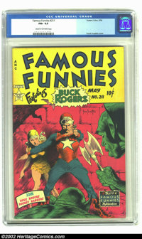 Famous Funnies #211 (Eastern Color, 1954) CGC FN+ 6.5 Cream to off-white pages. For nine consecutive, glorious issues, F...