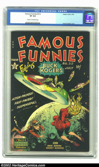 Famous Funnies #212 (Eastern Color, 1954) CGC VF 8.0 Cream to off-white pages. It wasn't often that Frazetta's work was...