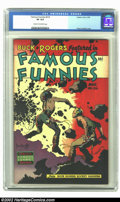 Golden Age (1938-1955):Science Fiction, Famous Funnies #216 (Eastern Color, 1955) CGC VF 8.0 Cream tooff-white pages. The last of the Frazetta covers for the title...